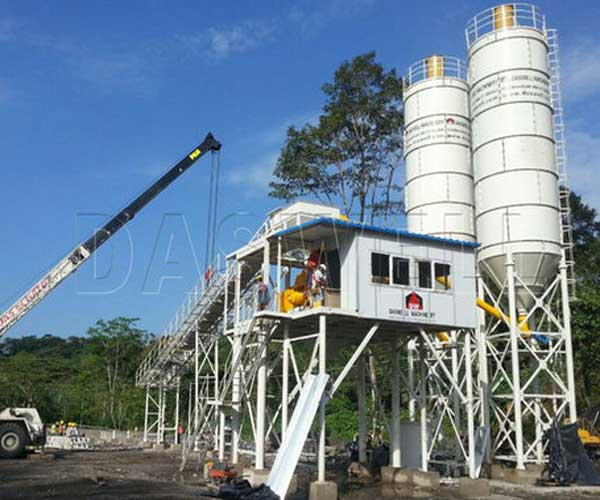 Belt Conveyor Stationary Concrete Batching Plant