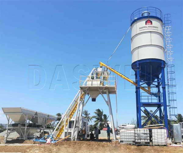 Skip Hopper Type Stationary Concrete Batch Plant