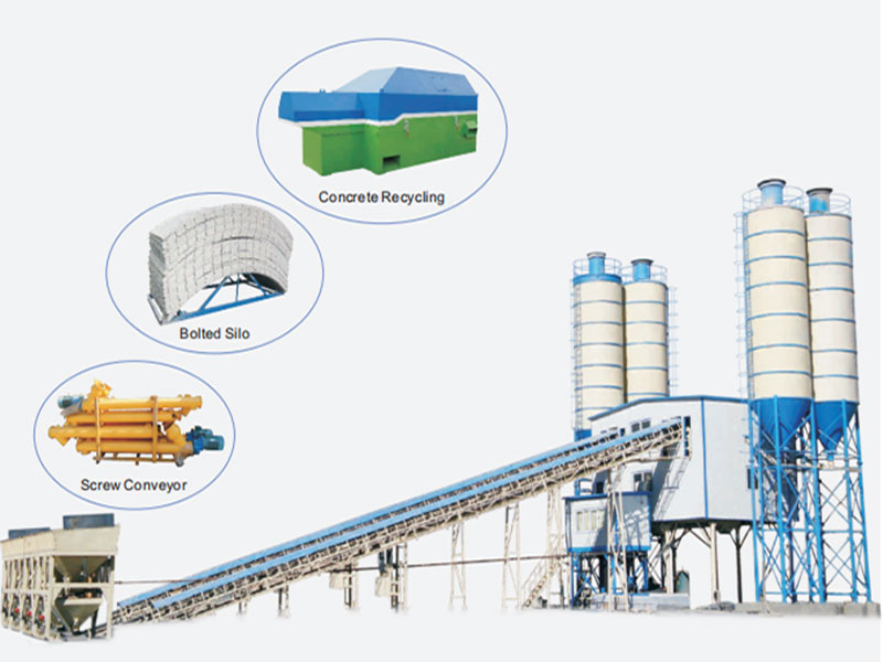 Concrete Batching Plant with Components
