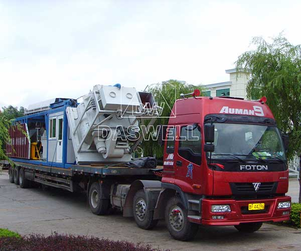 Convenient Transportation of Mobile Concrete Batching Plant