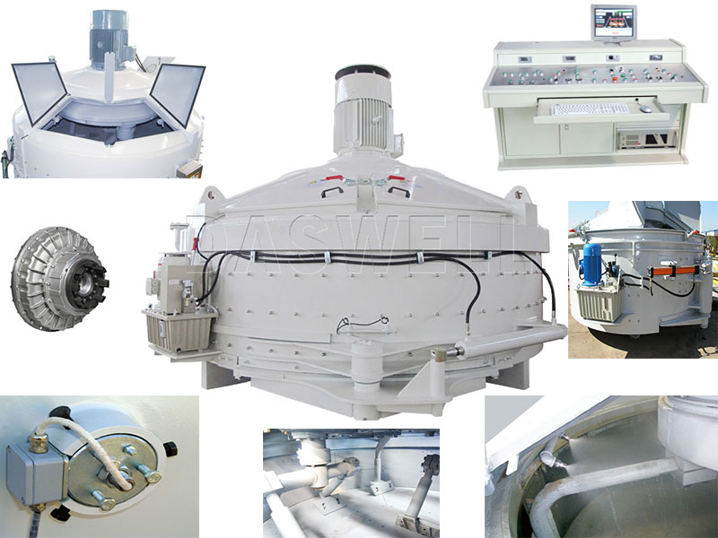 Planetary Concrete Mixer with Main Components