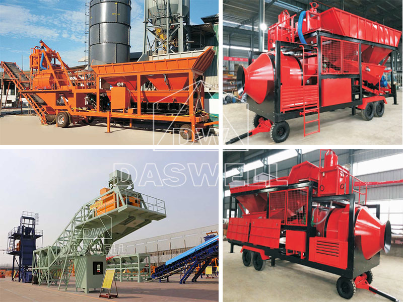 Types of Mobile Concrete Batching Plant for Sale in Daswell Machinery