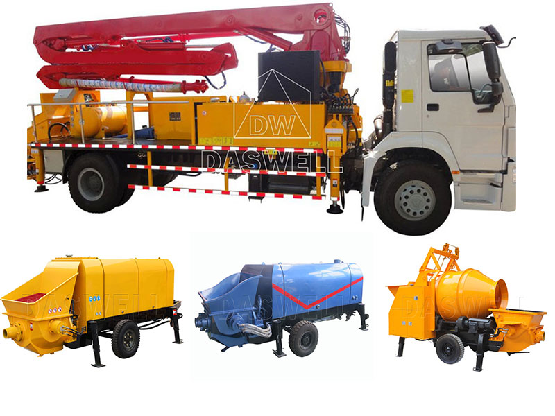 Various Types of Concrete Pump for Sale in Daswell Machinery