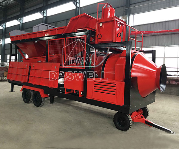 YHZS18 Mobile Concrete Batching Plant for Sale in Daswell