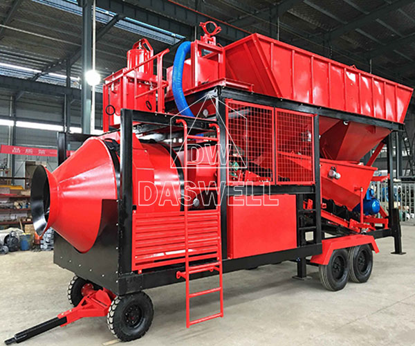 YHZS18 Mobile Concrete Batching Plant