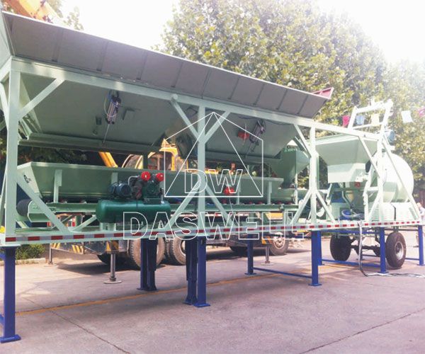 YHZM25 Mobile Type Concrete Batching Equipment
