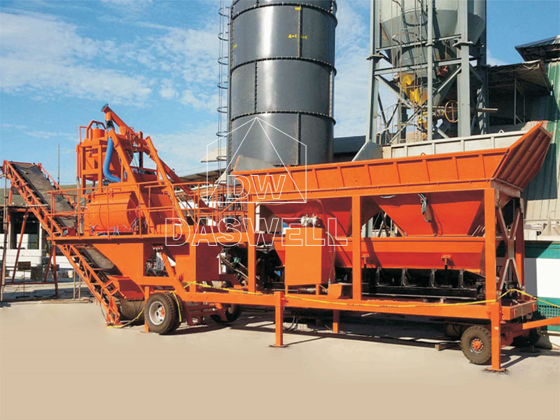 YHZS25A Mobile Concrete Batching Plant for Sale